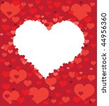 post card from hearts   Shutterstock .eps vector #44956360