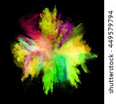 explosion of colored powder ... | Shutterstock . vector #449579794