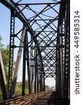 old rail way bridge vintage  ... | Shutterstock . vector #449585314