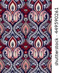 seamless paisley wallpaper... | Shutterstock .eps vector #449590261