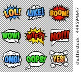 set of nine different  colorful ...   Shutterstock .eps vector #449594647