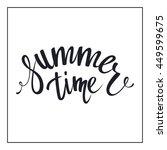 summer time lettering design.... | Shutterstock .eps vector #449599675