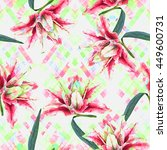 Seamless Floral Pattern. Pink...