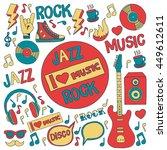 music doodle vector set | Shutterstock .eps vector #449612611