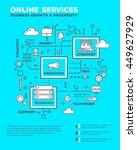 vector creative concept... | Shutterstock .eps vector #449627929