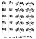 checkered flag  chequered flags ... | Shutterstock .eps vector #449628574