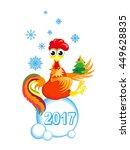cartoon chicken on a white... | Shutterstock .eps vector #449628835