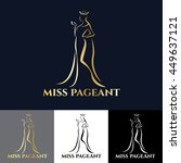 gold miss lady logo for pageant ... | Shutterstock .eps vector #449637121