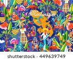 pattern caribbean island... | Shutterstock .eps vector #449639749
