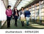 a group of friends walking in... | Shutterstock . vector #44964184