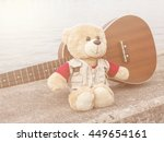 Single Teddy Bear And Ukulele...