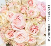 a bouquet of flowers on a white ... | Shutterstock . vector #449657365