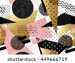 abstract seamless pattern or... | Shutterstock .eps vector #449666719
