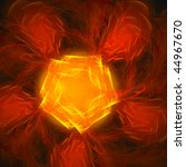 good abstract pentagonal figure ... | Shutterstock . vector #44967670
