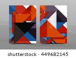 colorful geometric a4 business... | Shutterstock .eps vector #449682145