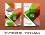 geometric design a4 size cover... | Shutterstock .eps vector #449683231