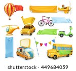 cartoon transportation  cars... | Shutterstock .eps vector #449684059