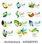 green nature leaf concept icon... | Shutterstock . vector #449685955