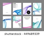 geometric cover background ... | Shutterstock .eps vector #449689339