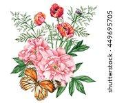 beautiful garden bouquet of... | Shutterstock . vector #449695705