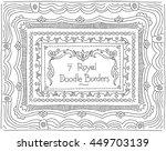 vector hand drawn doodle frames ... | Shutterstock .eps vector #449703139