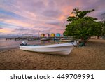 placencia  belize  central... | Shutterstock . vector #449709991