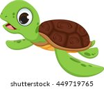 cute sea turtle cartoon | Shutterstock .eps vector #449719765