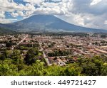 view over antigua  guatemala.   | Shutterstock . vector #449721427
