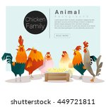 cute animal family background... | Shutterstock .eps vector #449721811