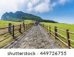 walkway crater of seongsan... | Shutterstock . vector #449726755