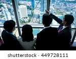 group of asian real estate... | Shutterstock . vector #449728111