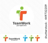abstract team work letter t... | Shutterstock .eps vector #449732209