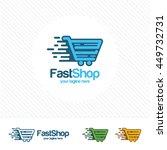 fast shop logo design vector.... | Shutterstock .eps vector #449732731