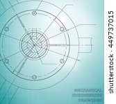 mechanical engineering drawings.... | Shutterstock .eps vector #449737015