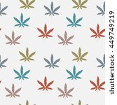 seamless pattern with cannabis... | Shutterstock .eps vector #449749219