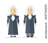 judge a wig  man and a woman.... | Shutterstock .eps vector #449754595
