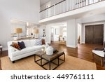 beautiful large living room... | Shutterstock . vector #449761111