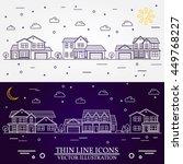 neighborhood with homes... | Shutterstock .eps vector #449768227