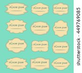 set of vintage vector frames... | Shutterstock .eps vector #449769085