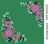 floral background. greeting...   Shutterstock . vector #449769325