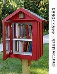 sidewalk library in residential ... | Shutterstock . vector #449770861