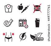 diet icons set | Shutterstock .eps vector #449777761