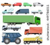 trucks icons set vector... | Shutterstock .eps vector #449786011
