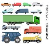 Trucks Icons Set Vector...