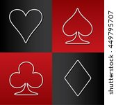 four card suits hearts spade... | Shutterstock .eps vector #449795707