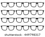 hipster glasses frames in a grid | Shutterstock .eps vector #449798317