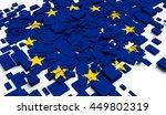 fragment flag of european union....   Shutterstock . vector #449802319