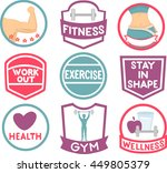 illustration featuring fitness...
