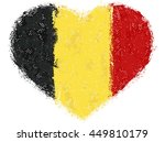 flag of belgium grunge heart | Shutterstock .eps vector #449810179
