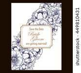 invitation with floral... | Shutterstock . vector #449810431
